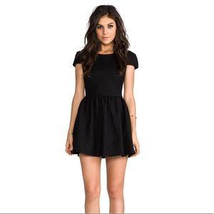 Lovers + Friends Black Voulez Vous Dress